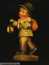 Anri Italian woodcarving Figurine statue of Boy Going Home by Juan Ferrandiz