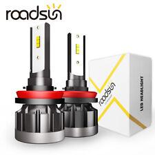 2x CSP H8 H9 H11 LED Headlight Bulb Kit 200W 250000LM Low Beam Bulbs 6000K White