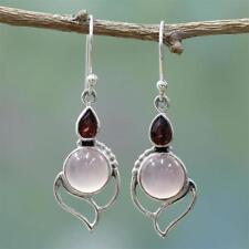 Multi-gemstone Ear Stud Opal Stone Moonstone Earrings Garnet Ruby CHALCEDONY