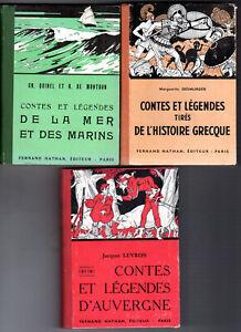 VTE POSSIBLE UNITE Lot 3 Contes et légendes Nathan dos toilé Auvergne Mer Grèce