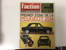 ACTION AUTO N°57 05/1965 PEUGEOT 204    L8