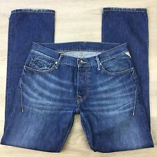 Replay Brand Straight Women's Blue Denim Jeans Size W31 L32 (HH8)
