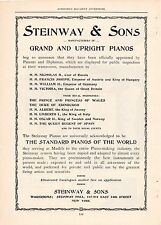 1899 STEINWAY & SONS GRAND AND UPRIGHT PIANOS AD