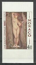 Monaco Tableaux Nu Nude Painting Gemalde Non Dentele Imperf Ungezahnt ** 1980