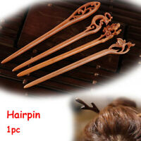 Peachwood Carved  Hairpin Hair Accessories Chopstick Hair Stick Styling Tools