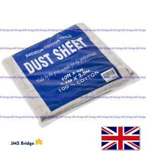 Cotton Twill Dust Sheets Various Sizes DIY Builder Decorating Cover 10/8