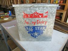 Vintage Metal Dairy Milk Box Jersey Dairy All Star Only 1 On Ebay!   Lot 20-75-7