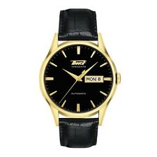 TISSOT Heritage Visodate Mens Watch Gold Case Black Dial 40mm T0194303605101