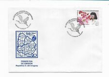 URUGUAY 2001 FIRST DAY COVER 80TH ANNIVERSARY DIPLOMATIC RELATION WITH JAPAN