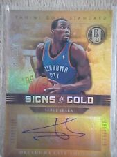 SERGE IBAKA 2011-12 GOLD STANDARD SIGNS OF GOLD AUTOGRAPH CARD #SG-52 031/149