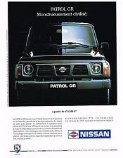Publicité Advertising 1991 Le 4X4 Patrol GR Nissan