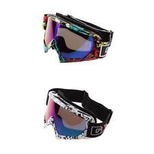2pcs Gafas Prueba de Viento para Motociclismo de Lente Colorido y Blanco