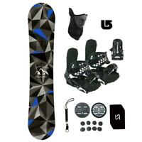 Symbolic Arctic Snowboard+Bindings Package Kids Youth Stomp+Leash+Mask+Burton 3d