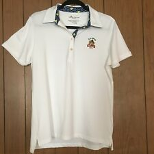 Peter Millar Womens Polo Shirt 2016 US Open Oakmont Wicking White Stretchy Sz L