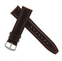 Hadley Roma MS881 18mm Brown Long Oil Tan Leather Mens Watch Band