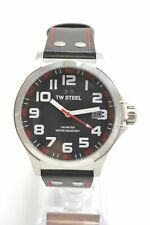 TW Steel TW410 Pilot Black Dial Black Leather Strap Men's Watch