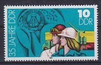 DDR Mi Nr. 2898 F 7 **, PF Linie neben Helm unterbrochen, 1984, postfrisch, MNH
