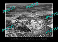 OLD POSTCARD SIZE PHOTO ANAHEIM CALIFORNIA, AERIAL VIEW OF DISNEYLAND c1950 1