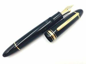 Y5392  MONTBLANC MEISTERSTUCK 149 Fountain Pen* Black 18K Gold 750 Piston