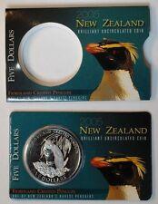 2005 New Zealand Fiordland Crested Penguin $5  Coin!!RARE