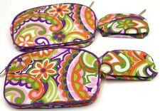2 Sets : CLINIQUE Floral Print Makeup Bag Set Zipper Pouch (2 Large + 2 Small )
