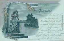 Nr.24269  PK Mondnacht Litho SEHNSUCHT  Wien 1899