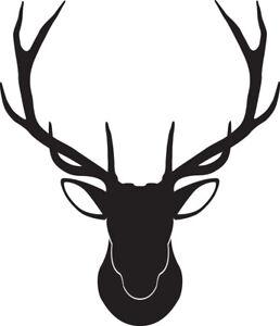 Window Wall Vehicle Display Christmas Stag Deer Head Antler Decal Vinyl Sticker