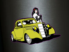 1 X Adesivo Old Car Mustung Girl Donna M.I.L.F. old style STICKER TUNING TURBO FUN