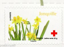FRANCE 2014, timbre CROIX ROUGE AUTOADHESIF FLEURS, JONQUILLE, neuf**, FLOWERS