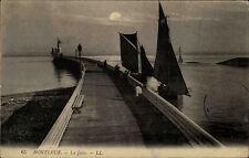 Honfleur Frankreich Normandie 1910 La Jetée Segelschiffe Anleger Sailing Ships