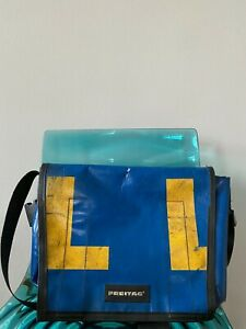 Freitag Bag/Messenger Bag Serie G 5.1 Blau Gelb (sehr selten) Unikat Design
