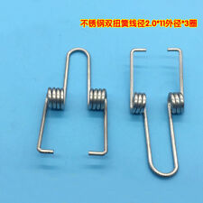 2.0mm Wire Diameter 11mm OD Stainless Double Torsion Spring Rotating Springs