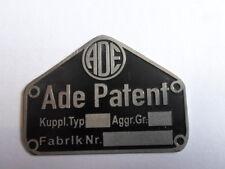 Panneau type panneau ADE Brevet AHK Attelage de remorque camion tracteur