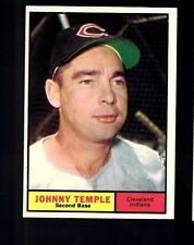 1961 Topps Johnny Temple #155 Cleveland Indians NM Vintage Baseball Card