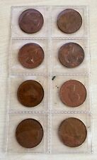 Set of x8 (EIGHT) Australian Kangaroo Half pennies (A131)