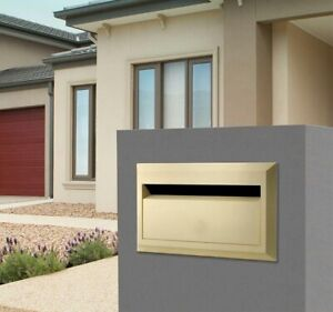 Sandleford 350mm Brickies Cream Brick Insert Letterbox Rear Open Suits A4 Mail