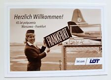 LOT Polish Airlines official postcard 45 years of flights WAW-FRA