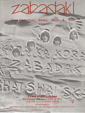 Zabadak - Dave Dee, Dozy, Beaky, Mick & Tich - 1967 Sheet Music
