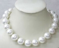 beautiful 14mm AAA White sea south SHELL PEARL necklace 18 INCH