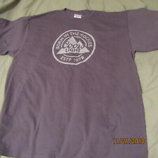 "Coors Light Beer ""Born In The Rockies"" Xl Dark Gray T-Shirt - New"