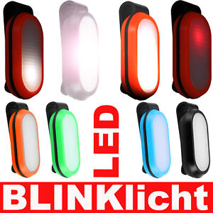 Blinklicht Licht Clip Reflektor Leuchtanhänger Fahrrad Joggen Kinder Rucksack