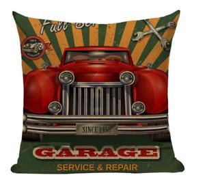 Garage Service Repair VC11 Pillow Cover Retro Classic Automobile Vintage Car