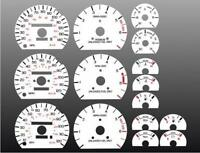1989-1996 Ford Thunderbird Dash Cluster White Face Gauges 89-96