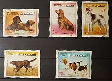 Fujeira 1970 Mi.602/06 A fine used c.t.o. Hunde Dogs (No1296)