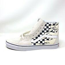 Vans Sk8 Hi Checker Flame Classic White Men's 11.5 Skate Shoes New Chackerboard