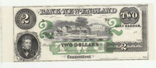 2 DOLLARS UNC REMAINDER BANKNOTE FROM USA/BANK OF NEW ENGLAND 18.. RARE