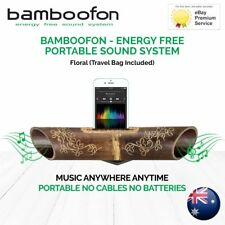 BambooFon - Energy Free Portable Sound System - Floral (Travel Bag Included)