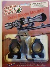 """Custom Scope Mounts Model 22 SM-1IN fits 22 cal rifles & paintball guns 3/8"""" rcv"""