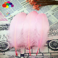 100 Pcs Goose feathers 15-20 Cm/6-8 Inch pink Diy Stage Props Decor Headress