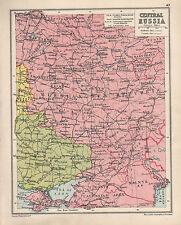 1934 MAP ~ CENTRAL RUSSIA ~ RUSSIAN S.F.S REPUBLIC UKRAINE